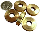JWL (5) Solid Brass Cane Brake Washers 1' Diameter Used Between Cane Handle and Shaft