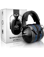SCHALLWERK ® Work+ auriculares aislantes ruido – orejeras de tamaño ajustable – amortigua el ruido y protege el oído – ideal en el trabajo – protección auditiva laboral