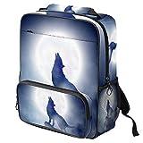 Wolf Grayscalel Head - Mochila escolar para ordenador portátil Color06 14.3x11.4x4.7 in