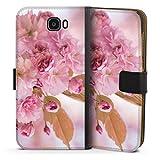 DeinDesign Étui Compatible avec Huawei Y6 II Compact Étui Folio Étui magnétique Fleurs de...