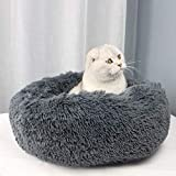 Veepax Fluffy Donut Dog Bed Cat Bed,Calming Cuddler Donut Pet Bed for Small Dogs. Soft Washable Round Dog and Cat Cushion Bed (20')
