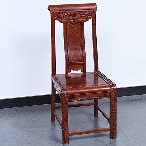CENPEN Sillas de comedor retro de sustancias pesadas, sillas de café y bistro, hechas de madera maciza para salón de restaurantes (color: marrón, tamaño: 46 x 50 x 108 cm)