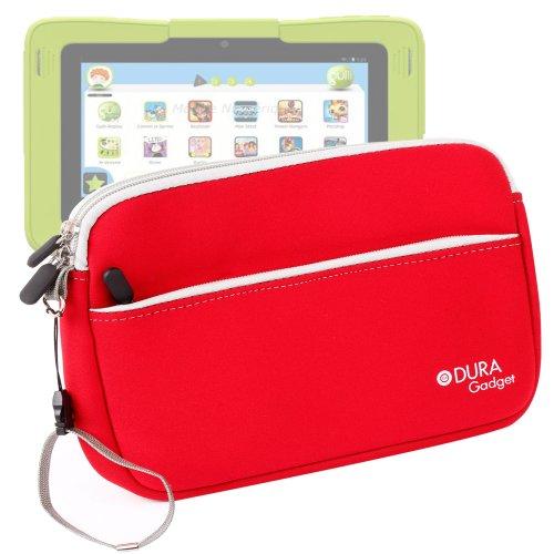 Duragadget - Funda en rojo + bolsillo con cremallera compatible con Kurio 7.0 la nueva tablet táctil familiar by Gulli (Android 4.2)