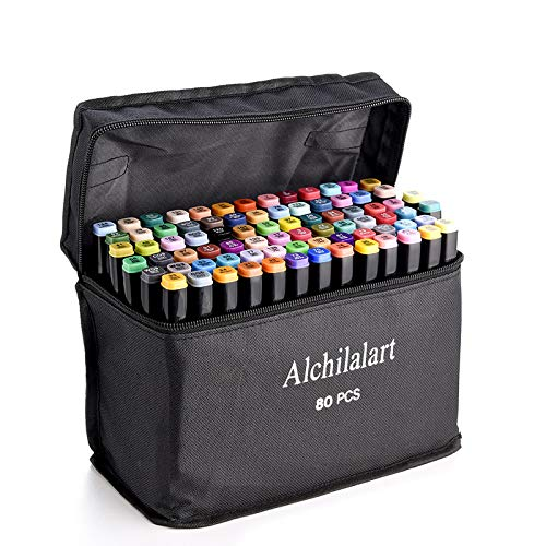 80-Colors Alcohol Based Markers,...