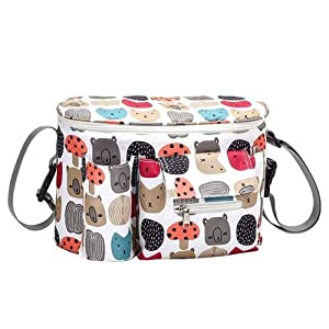 Diaper Stackers & Caddies Baby Stroller Bag,Large Capacity Diaper Caddy Organizer,Outdoor Travel Hanging Carriage Mommy Basket