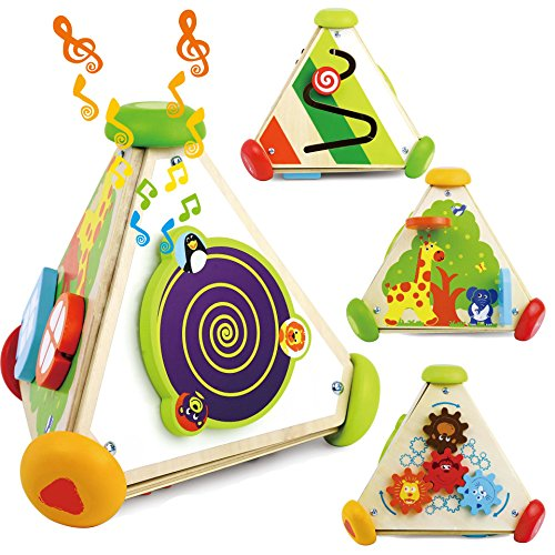 Joyin Toy Wooden Activity Center Early Development Educational Toddler Toy with Music Box