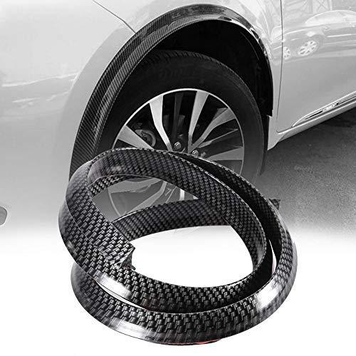 Las cejas del arco de la rueda protegen - Fiber Fiber Fender Fles de carbono del coche Las cejas del arco de la rueda protegen el cojín antiarañazos