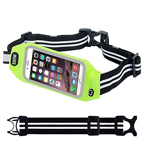 Marsupio Sportivo,EOTW Marsupio con Cntura Running per Smartphone iPhone Samsung Huawei LG da Correre Corsa Palestra Alpinista Ciclismo Anti sudore Riflettente Finestra Trasparente (5,5 inch Verde)
