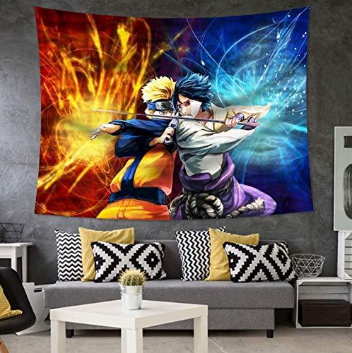 JXCDNB 95x73cmBande dessinée Tapisserie tenture Murale Chambre décoration Naruto Tapis Tapis Dragon-Ball tapisseries Art à la Maison décor psychédélique pour garçons
