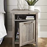 Better Homes & Gardens Modern Farmhouse End Table Nightstand with USB, Rustic Gray Finish