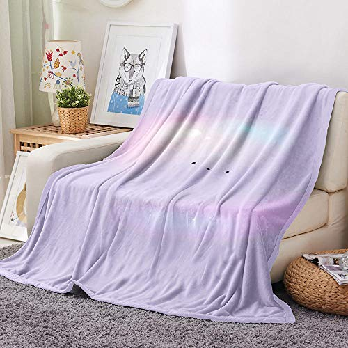 Blankets Purple Cartoon Clouds Super Soft Flannel Fleece Blanket Large Fluffy Warm Bed Sofa Throw for Bedroom, Couch, Travel, Kids, Bedroom, 130x150cm