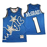GAOJR Camiseta De Baloncesto, Jersey para Hombre, Chaleco De Moda Camiseta Sin Mangas para La Formación De Competencia Fitness Fitness Magic McGrady 1-XL