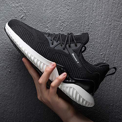 Zapatillas para Correr para Hombre - Zapatillas De Deporte Tejidas Voladoras Transpirables De Primavera, Zapatillas Deportivas Ligeras para Caminar Para Gimnasio, Entrenamientos, Entrenamiento Cruza