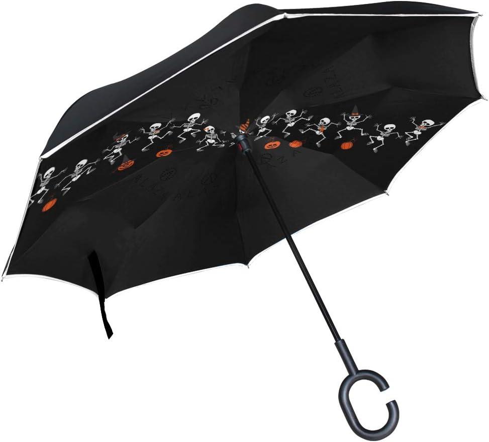 Mr.Brilliant Skull Skeleton Reverse New products, world's highest quality popular! Umbrella Windproof Sale Halloween
