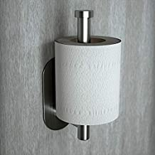 Cerekony Adhesive Toilet Paper Holder - Toilet Roll Holder for Command Bathroom Accessories Hooks Stick on Wall Stainless Steel Brushed Nickel
