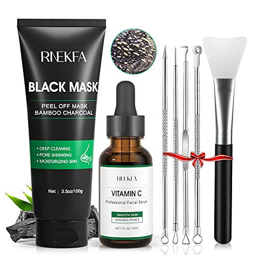 Blackhead Remover Mask, 4-in-1 Peel Off Charcoal Face Mask,Vitamin C...