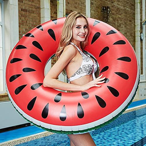 GUBOOM Flotador Inflable de Piscina, Flotador Inflable Gigante para Piscina de Sandía Flotador Inflable de Piscina Inflables Fruto Anillo de Natación Verano El Aire Libre de la Playa