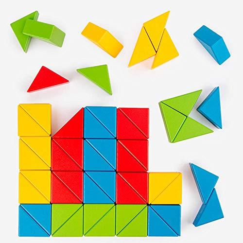 Puzzles Nuevo Rompecabezas Magnético 3D Para Niños Tangram Juego De Entrenamiento De Pensamiento Bebé Montessori Aprendizaje Juguetes Educativos De Madera Para Niños