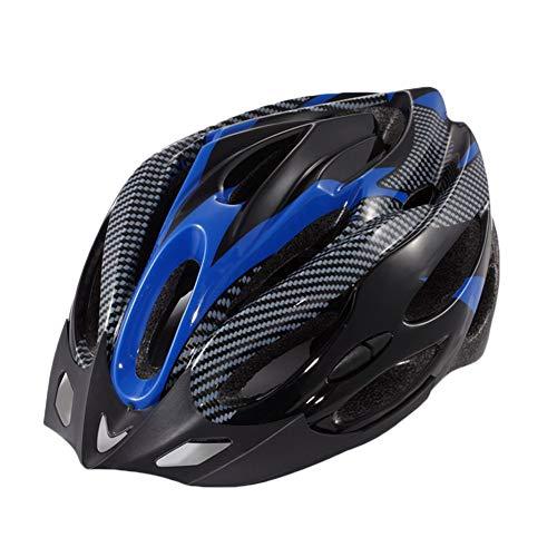 YOUCAI Casco MTB Adulto Hombres Mujer Moda Ajustable Cascos Bici Azul Negro