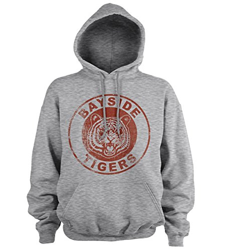 Officially Licensed Bayside Tigers Washed Logo Hoodie (Heather-Grey), XX-Large