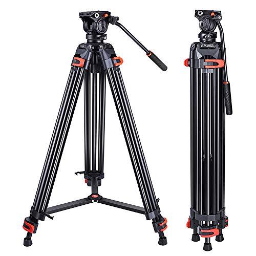 Heavy Duty Tripod Professional Video Tripod Aluminium 72inch with 360 Degree Fluid Head for Canon Nikon DSLR Camcorder Cameras