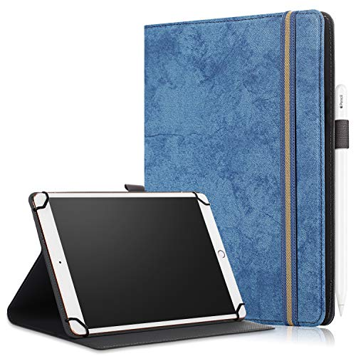 SINSO Universal Case for 9-11 Inch Tablet, Stand Folio Case Cover for All 9-11' Tablets (Samsung Tab 9.6/10.1/10.5, iPad 9.7-11', Lenovo Dragon Touch 10', Huawei 10.1-10.8, Fire HD 10), Navy Blue