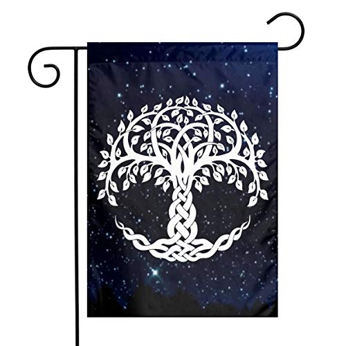 Celtic Tree of Life Garden Yard Flag 12'x 18',Polyester Holiday Flag Banners for Patio Lawn Outdoor Home Decor
