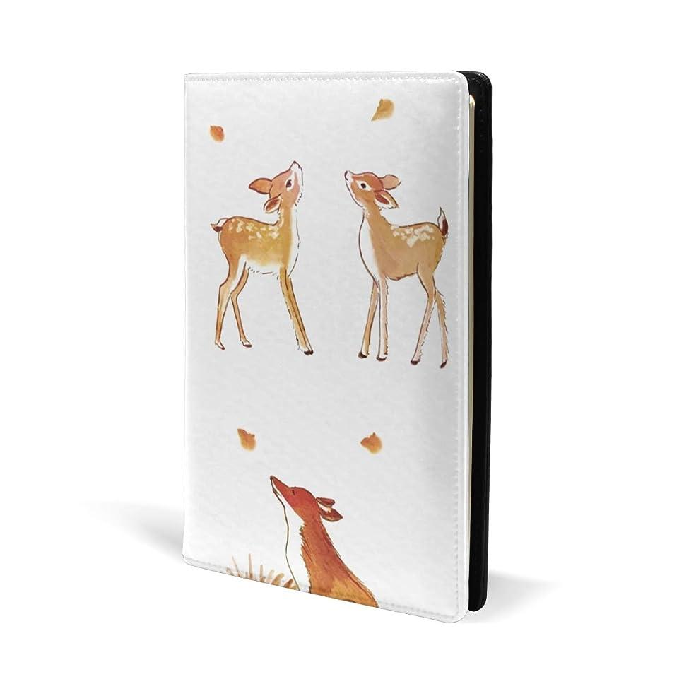 飼料数学的な期待するブックカバー a5 しか 愛 とり かわいい 文庫 PUレザー ファイル オフィス用品 読書 文庫判 資料 日記 収納入れ 高級感 耐久性 雑貨 プレゼント 機能性 耐久性 軽量