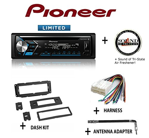 PIONEER DEH-S4010BT CD Receiver + Best Kit BKCDK640 Dash Kit + BHA1858 Harness + BAA4 Antenna Adapter + SOTS Air Freshener