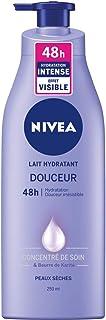 NIVEA Lait Hydratant Douceur 48h (1 x 250 ml), Soin corporel enrichi en concentré de soin NIVEA & en beurre de karité, Lai...