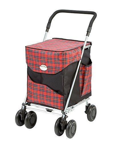 Sholley © Original Deluxe Faltbare Einkaufstrolley, Einkaufswagen mit Rädern, Einkaufsroller klappbar. Handwagen, Einkaufstache aüf Rädern, 4 Räder, 6 Räder (Balmoral, Petite)