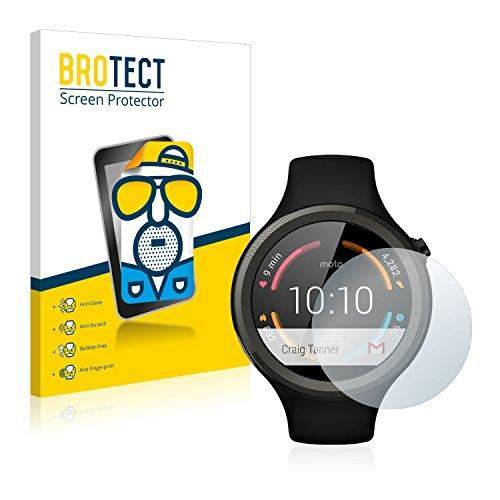 BROTECT 2X Entspiegelungs-Schutzfolie kompatibel mit Motorola Moto 360 Sport 45 mm (1. Generation) Bildschirmschutz-Folie Matt, Anti-Fingerprint