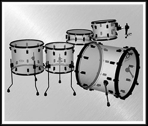 Drumcraft Schlagzeug Rock DCA808-24RO-AC inkl. schwarzer Hardware