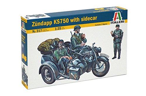 Italeri 510000317 - Figuren - 1:35 Motorrad-Gespann Zündapp KS750