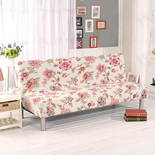 WINS Sofa Bed Cover Sofa Cover Without Armrests Stretch Armless Sofa Bed Cover Futon Cover