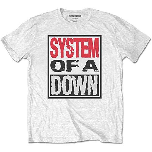 T-Shirt # M Unisex White # Triple Stack Box