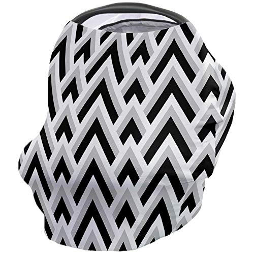 Best Price Baby Nursing Cover Breastfeeding Cover Soft Breathable Chemical-Free 360° Coverage, Geom...