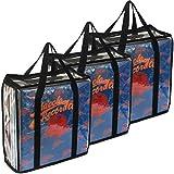 Evelots LP Vinyl Record Case-Storage-Carry 108 Album Total-No Dust,Scratch-Set/3...