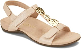 b4a5759a4 Vionic Women s Rest Farra Backstrap Sandal - Ladies Adjustable Sandals with  Concealed Orthotic Support