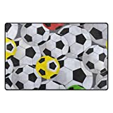 Alfombra de fútbol, ultra suave, antideslizante, para el hogar, dormitorio, sala de estar, baño, sala de juegos, 78,7 x 50,8 cm