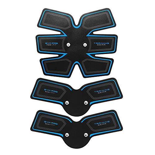 LIUXING Muskeltoner Abdominal Trainer USB Muskeltrainingsgeräte Body Shape Fitness Bauch Arm Übung Kit (Farbe : Schwarz, Größe : Einheitsgröße)