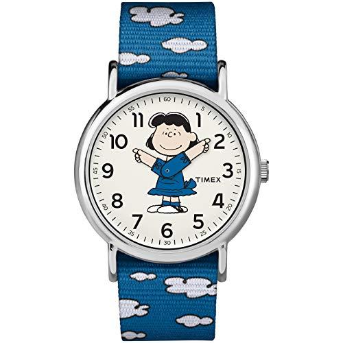Timex Unisex TW2R41300 Weekender 38mm Peanuts Lucy Nylon Slip-Thru Strap Watch