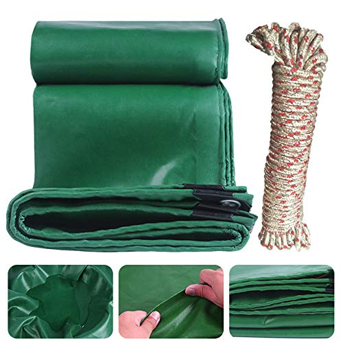 FFJD Waterproof Multi Purpose Water Proof green Tarp Poly Cover for Roof Car-2x1.5m