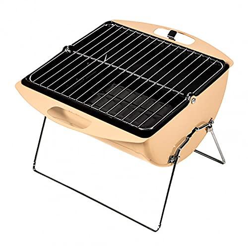 Somagic Barbecue Valisette Charbon de Bois avec Cuve en Acier Emaillé, 35cm x 25cm