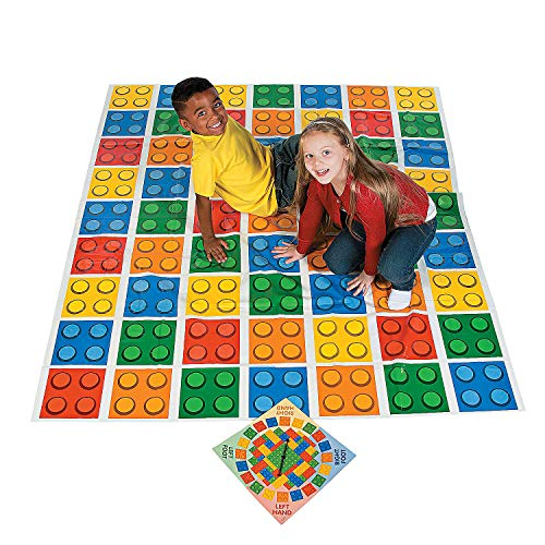 Color Blocks Bend Game with Spinner ( 5 ft. x 6 ft pad) Brick Party Game