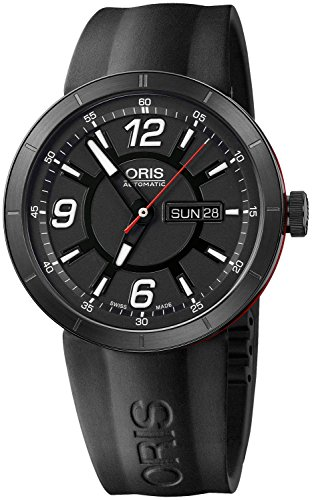 Oris TT1 Williams Automatic Black DLC Coated Steel & Rubber Mens Watch...