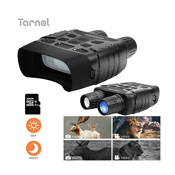 "Night Vision Binoculars HD Digital Infrared Hunting Binocular Scope, 1080P Picture & 720P Video and 2.31"" LCD Screen IR Camera in 400m for Wildlife"