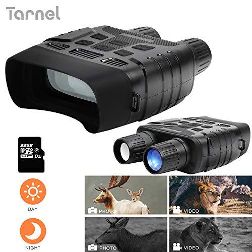 Binoculares de visión Nocturna Alcance de Caza infrarrojo Digital HD, Imagen 1080Py Video 720Py cámara IR de Pantalla LCD de 2.31'en 400m para Vida Salvaje (Incluye una Tarjeta TF de 32GB)