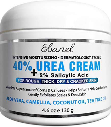 Urea Cream 40% Plus Salicylic Acid 4.6 Oz, Callus Remover Hand Cream Foot Cream For Dry Cracked Feet, Hands, Heels, Elbows, Nails, Knees, Intensive Moisturizes & Softens Skin, Exfoliates Dead Skin