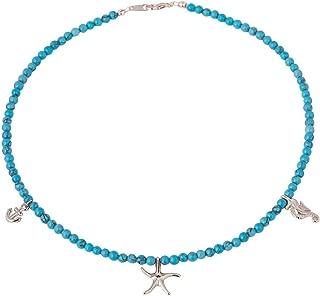 vergoldet Gemshine Maritim Nautics Halskette Surfer rose Surferin 925 Silber